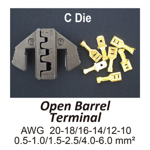 HT-2131-C Crimping Tool Die - C Die for Open Barrel Terminals AWG 20-18/16-14/12-10