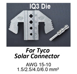 HT-2130-IQ3 Crimping Tool Die - IQ3 Die for Tyco Solar Connectors AWG 15-10