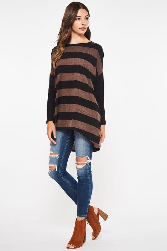 Beeson River Striped Tunic Top with POCKETS!! (See sizing info: runs BIG)