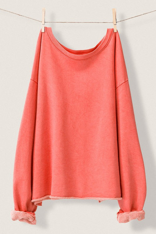 CORAL French Terry Sweatshirt