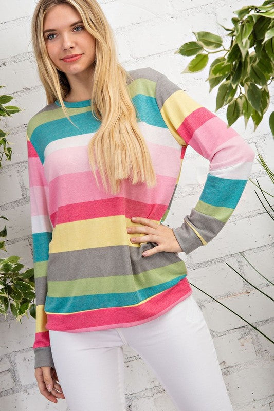 Madeline's Pick: Sweet Striped French Terry Top