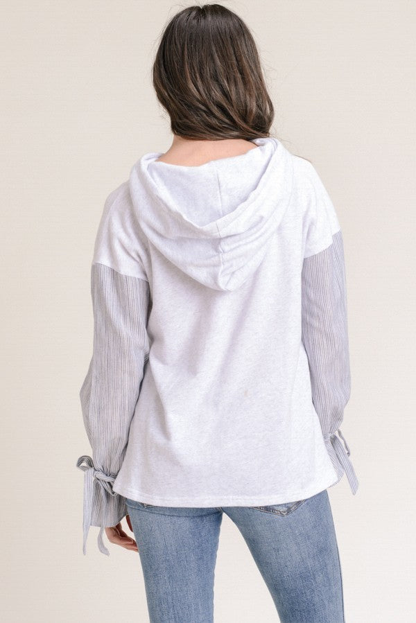 Tie-Sleeves Shades of Gray Hoodie