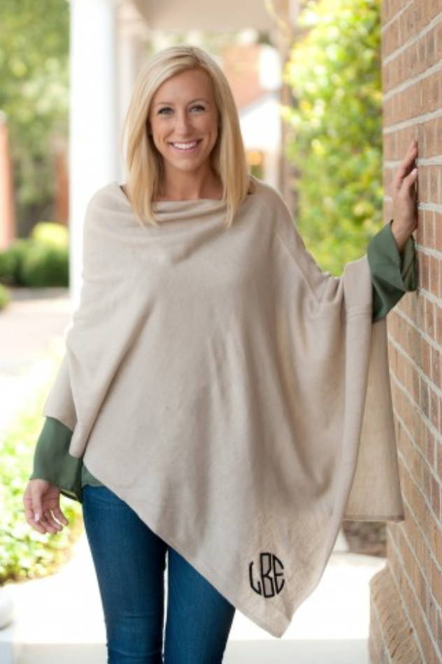 Misses & Curvy: Adorable Pashmina Ponchos in Multiple Colors - ONE SIZE