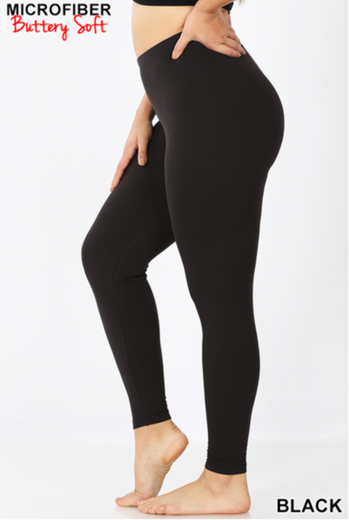 Misses AND Curvy: Black Butter Leggings
