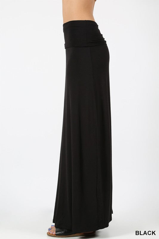 www.tooquteboutique.com, too qute boutique, black knit skirt, long skirt, soft knit, comfortable, zenana, boutique brand