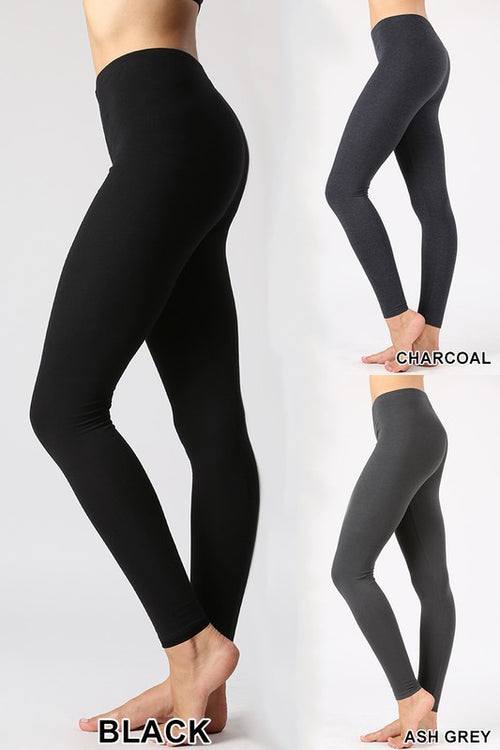Stretchy Black Knit Leggings