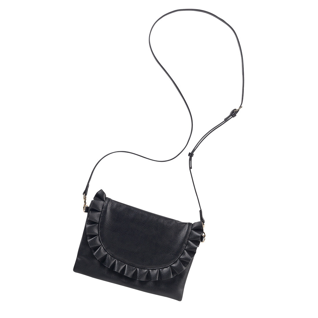 Black Convertible Wristlet/Crossbody Vegan Purse