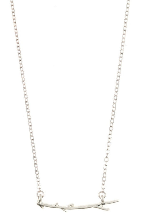 Silver Tone Branch Necklace