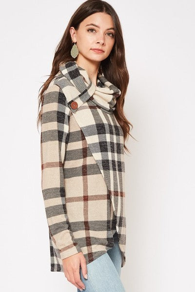 Burberryish Plaid Faux Wrap Top