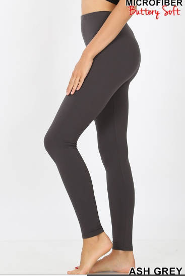 BUTTER Leggings! Ash Gray or Olive