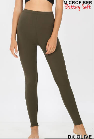 BUTTER Leggings! Black, Ash Gray or Olive