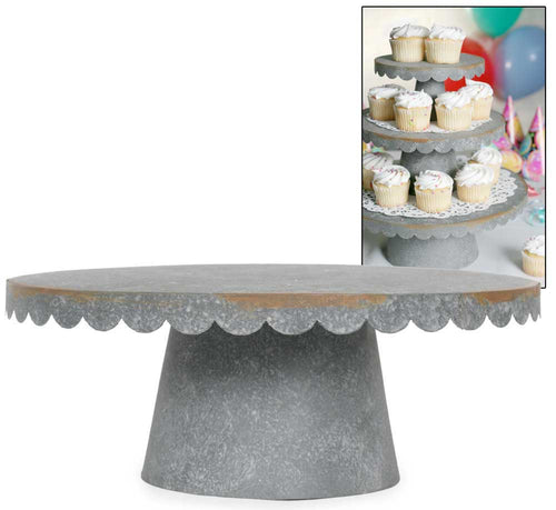 Large Scalloped Cupcake/Cake Stand