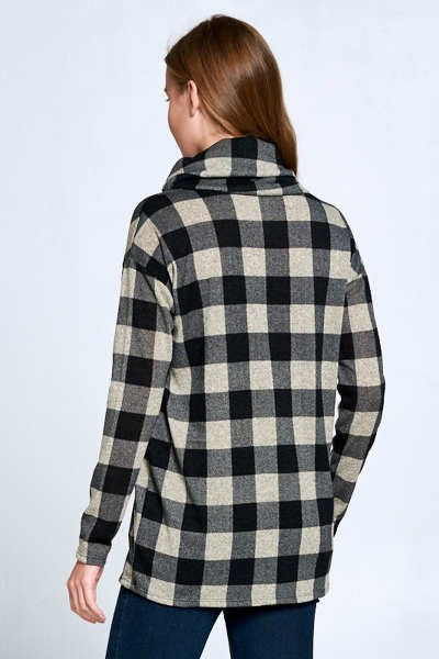 Mocha & Black Check Tunic