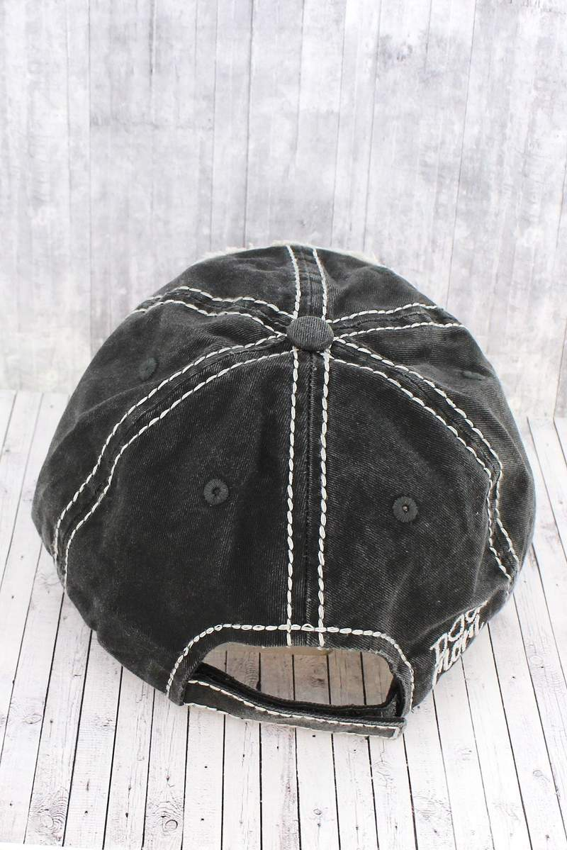 Boutique Fave: Washed Grayed Black DOG MOM Cap
