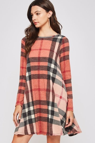 Perfect Plaid Dress with Hidden Pockets!