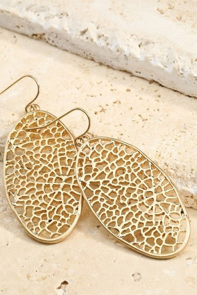 Silver OR Gold Dangle Earrings