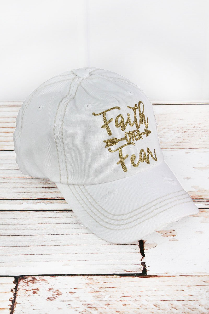 Faith Over Fear White or Black Cap