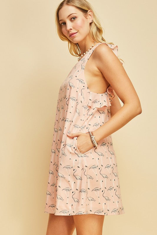 Blush Flamingo Dress