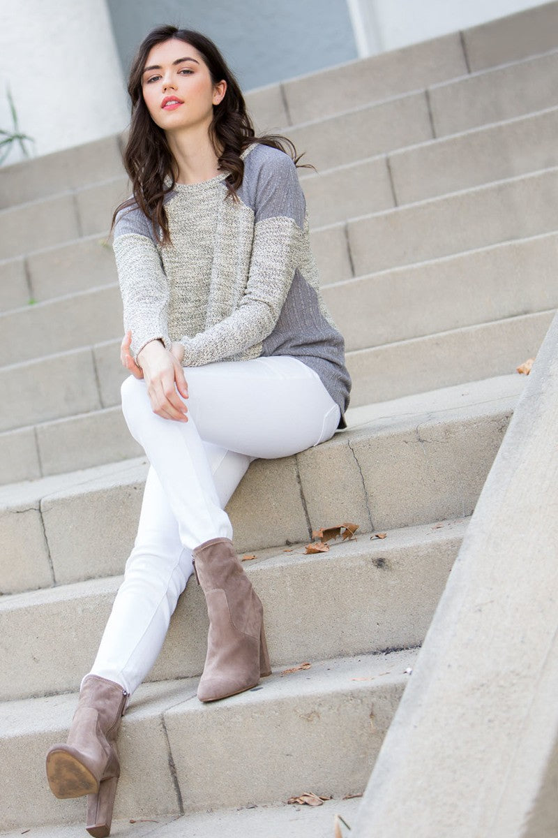 THML Mixed Gray & Black Sweater