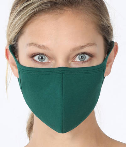 Soft Cotton Masks for Fall: Teal Blue or Deep Green