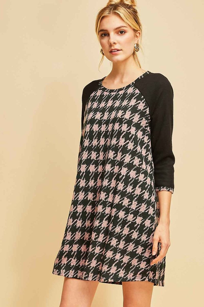 Houndstooth Tunic Dress