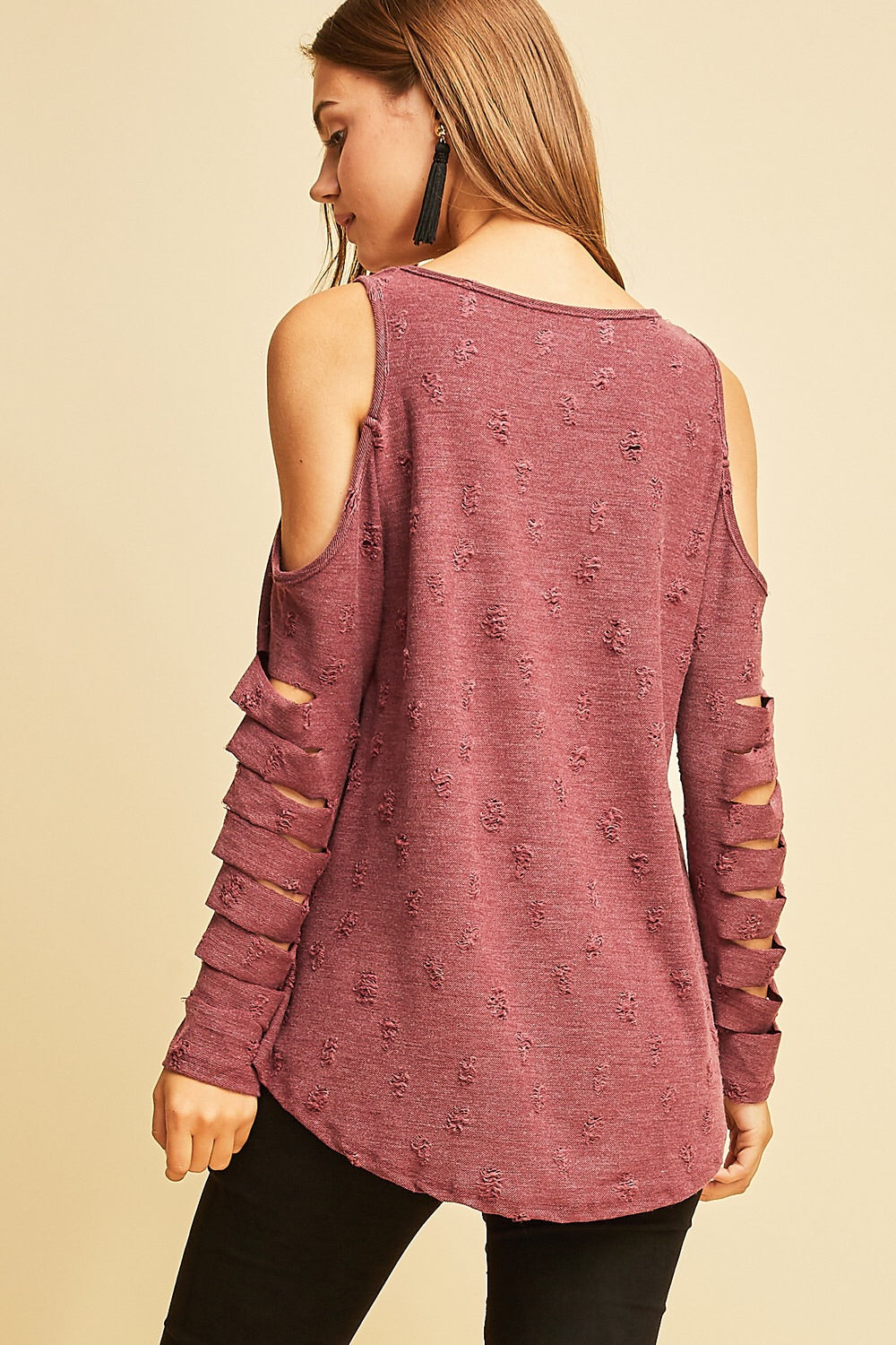 Berrylicious Cold Shoulder Top
