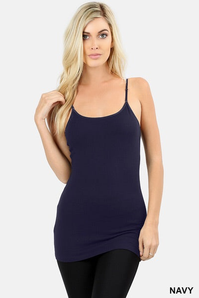 Basic Long Cami with Adjustable Straps