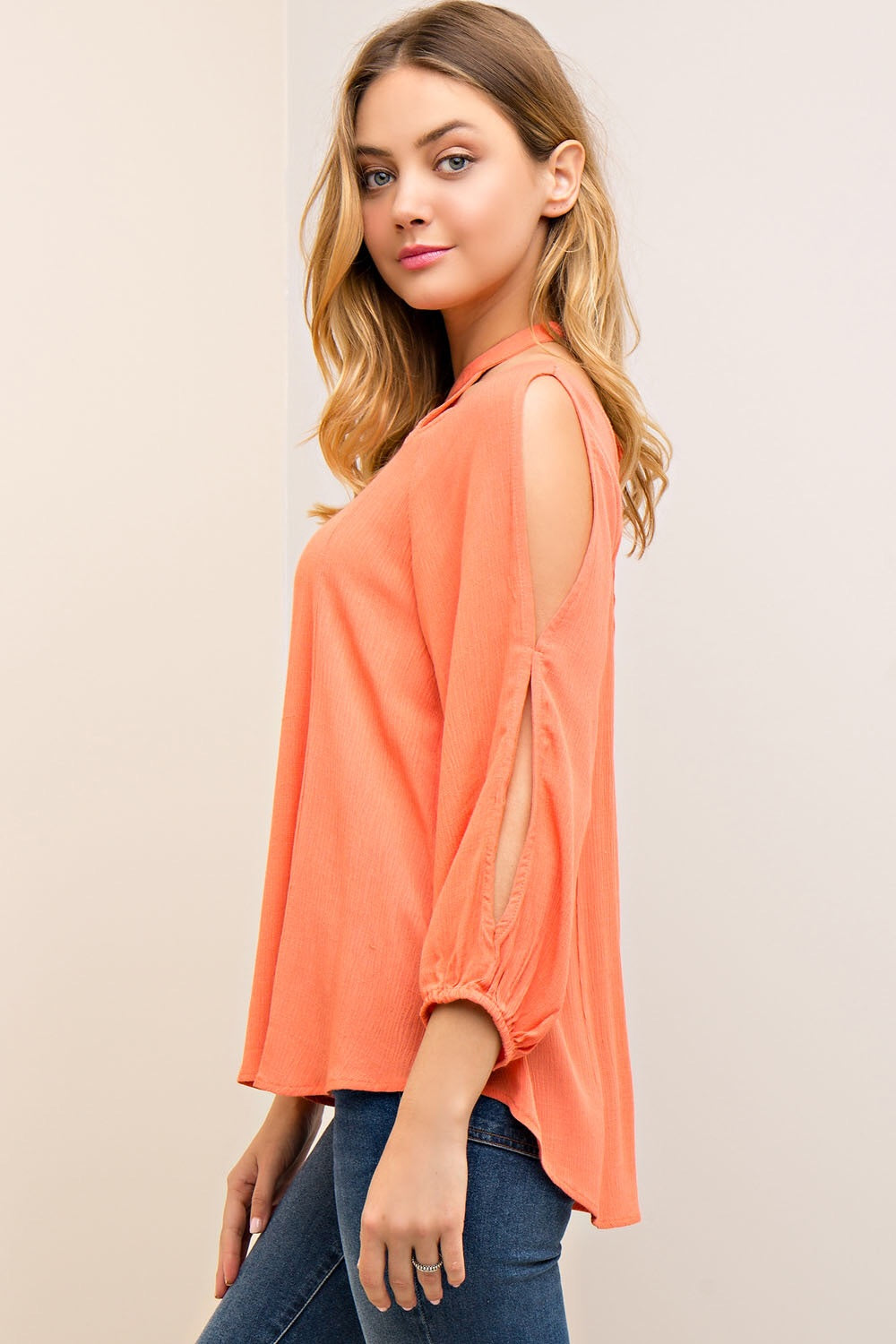 Sunkist Coral Top