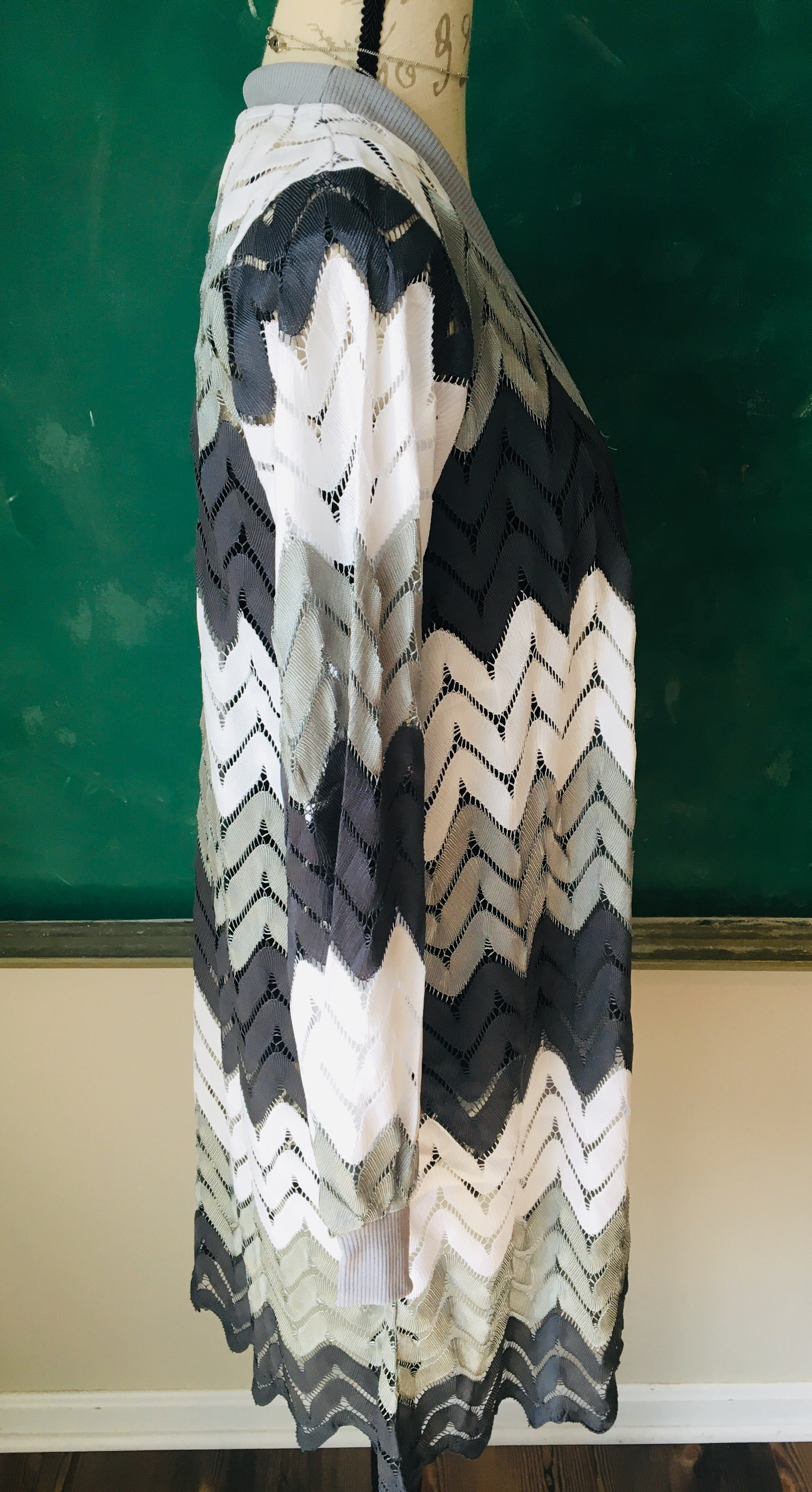 Silver Chevron Duster