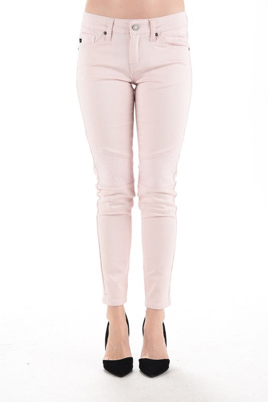 Pale Pink Moto Style KanCan Jeans