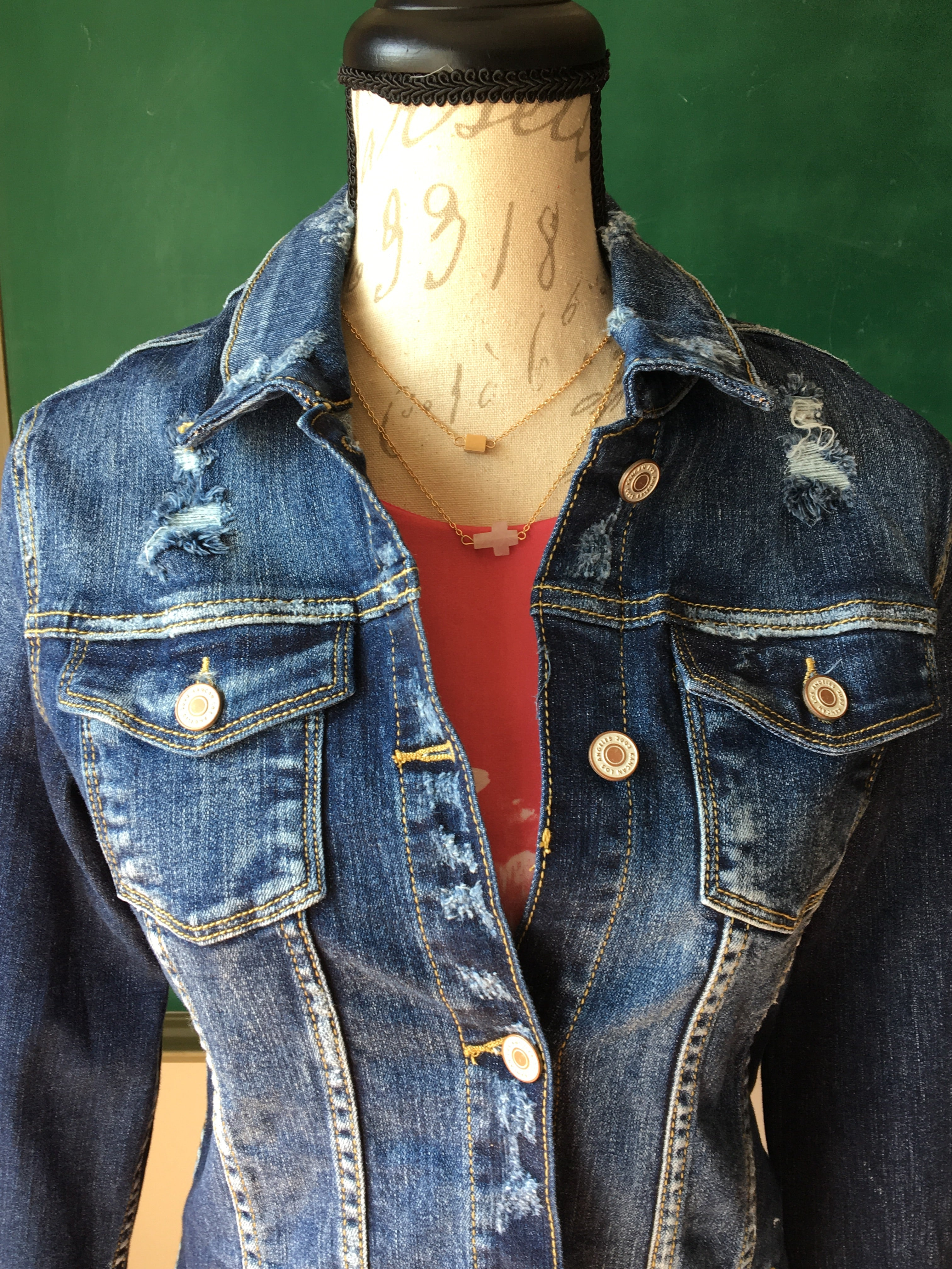 KanCan Perfectly Distressed Jean Jacket