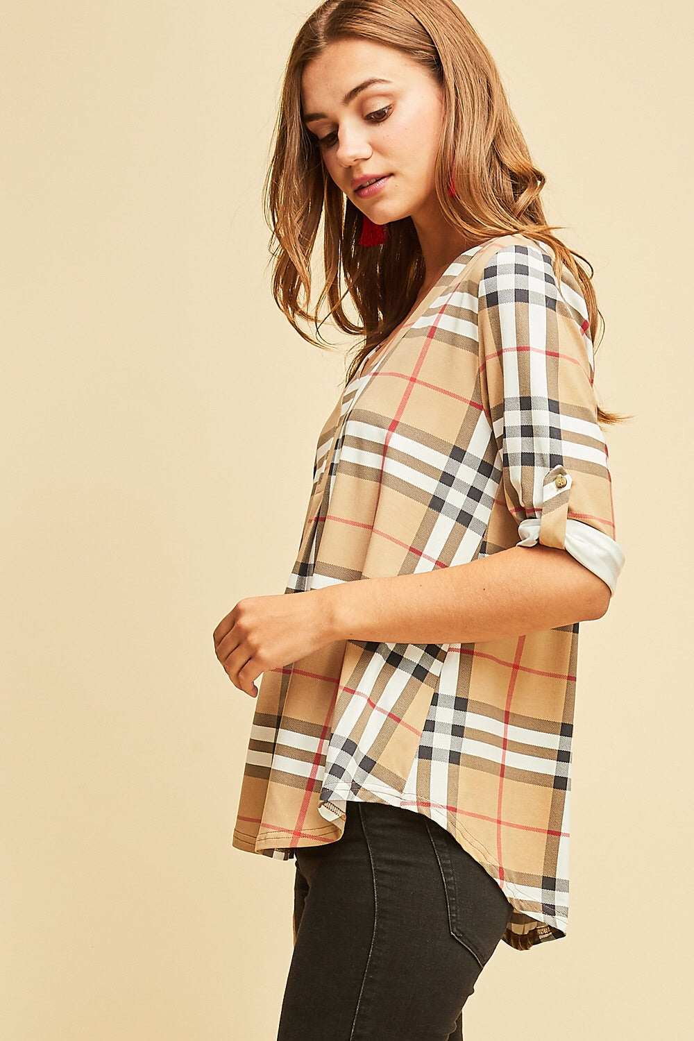 Preppy Plaid Top