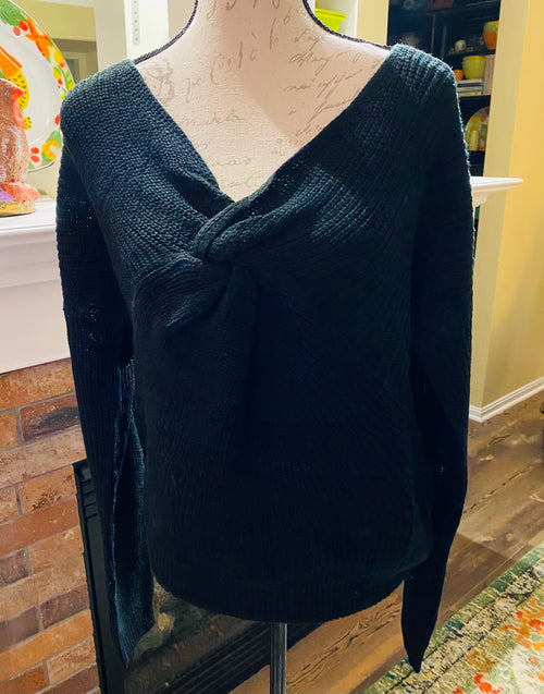 Cozy Cabin Black Loopy Sweater