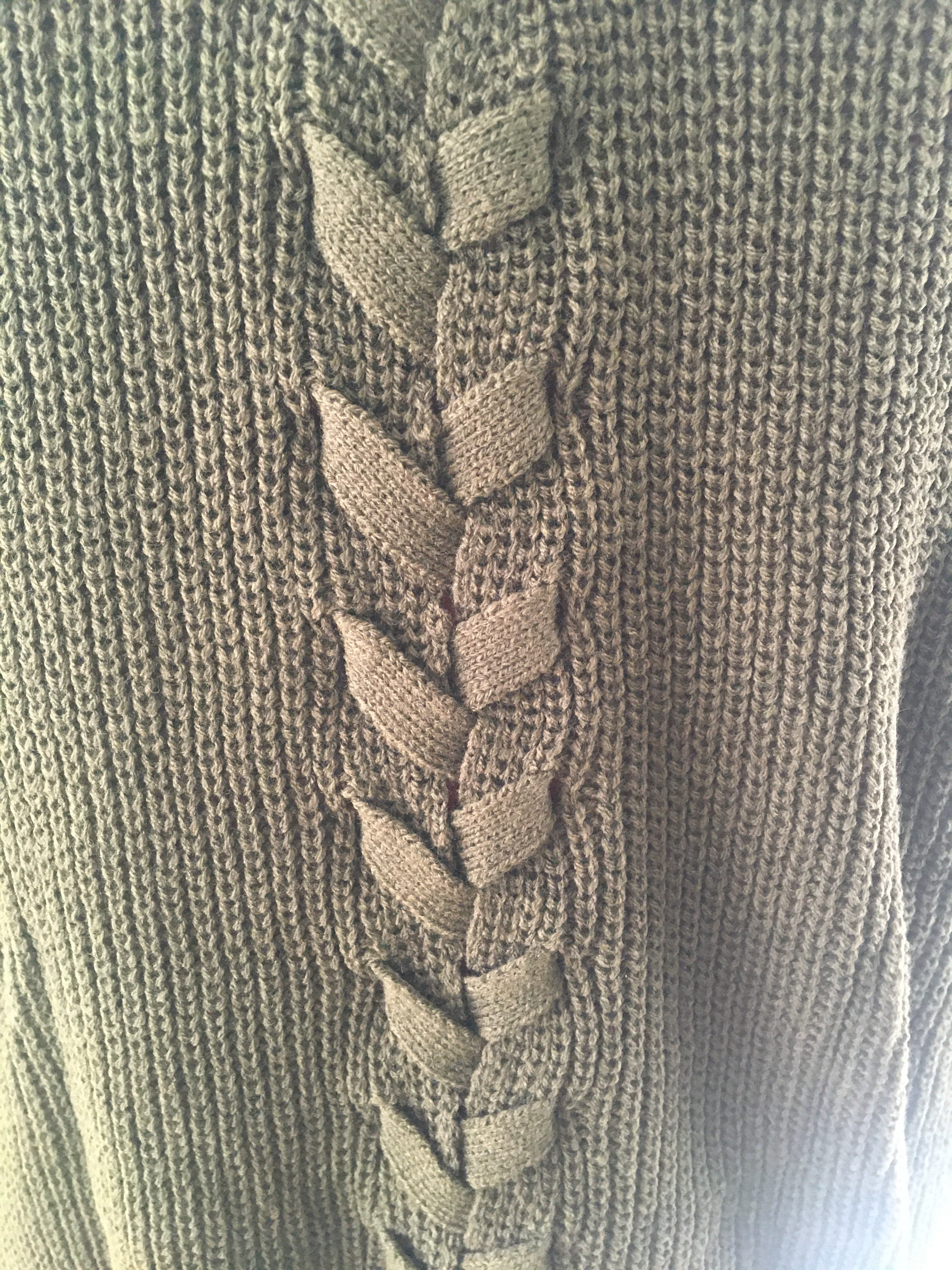 Olive Laced Back Cardigan Sweater