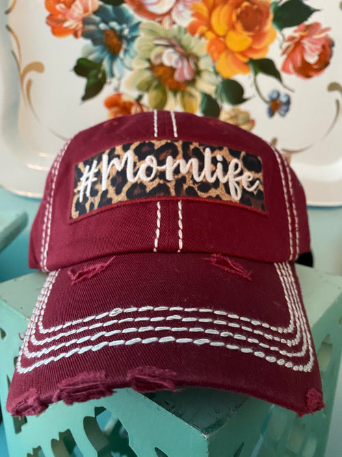 #momlife Cheetah Cap