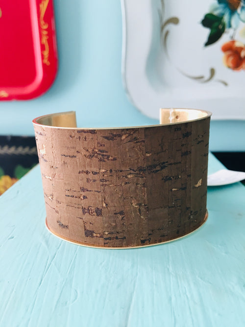 Brown Cork Cuff Bracelet