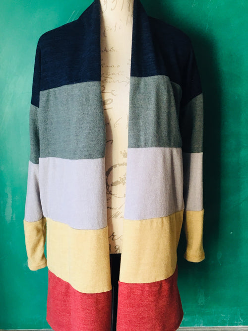 Knit Color Block Cardigan