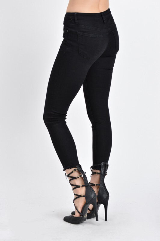 Cropped Black KanCan Denim