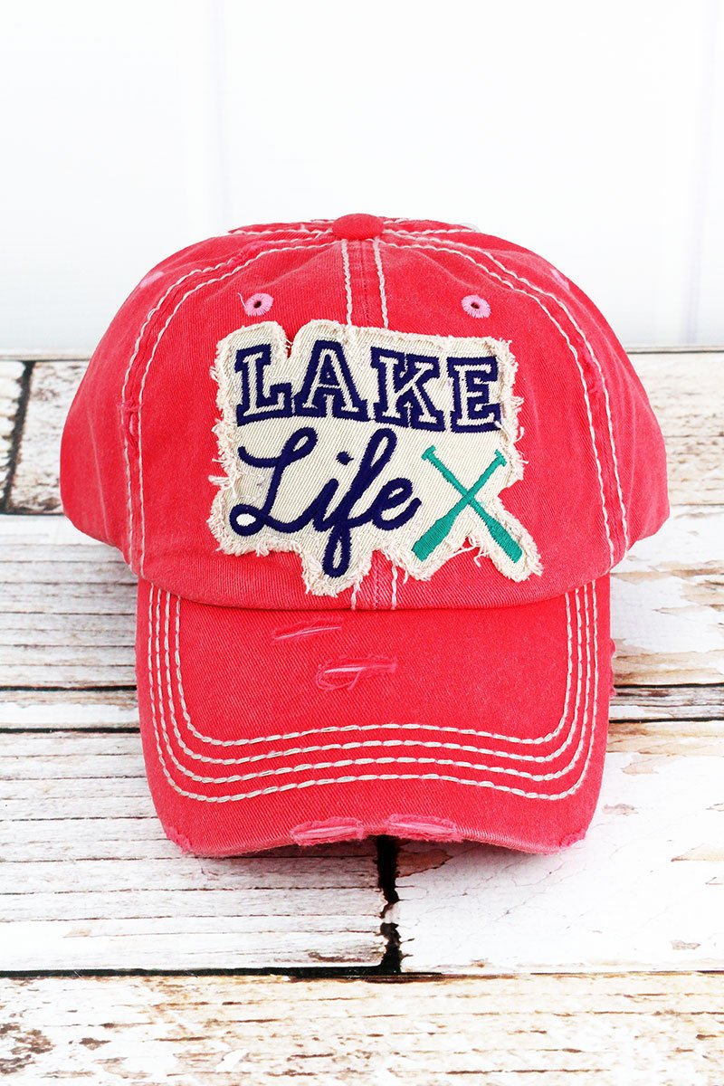 Lake Life Salmon Cap