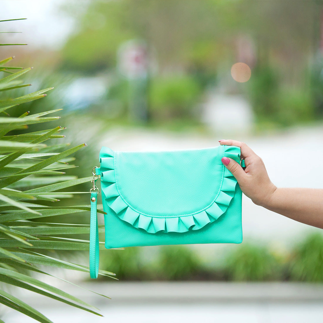 Mint Convertible Wristlet/Crossbody Vegan Purse