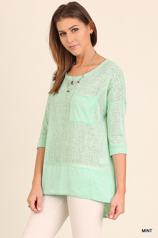 mint, aqua, top, sweater, small, medium, large, umgee, too qute boutique, www.tooquteboutique.com, spring, summer, linen, lightweight