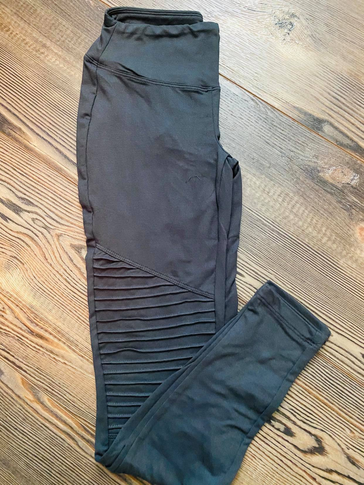 BUTTERY SOFT MOTO Leggings! Dark Green, Ash Grey, Black or Navy