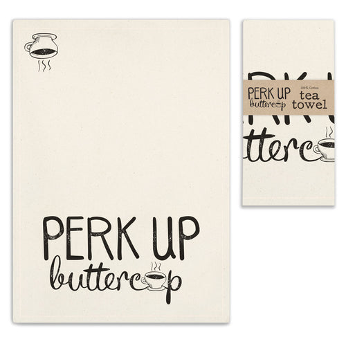 Perk Up Buttercup (Coffee) Hand Towel