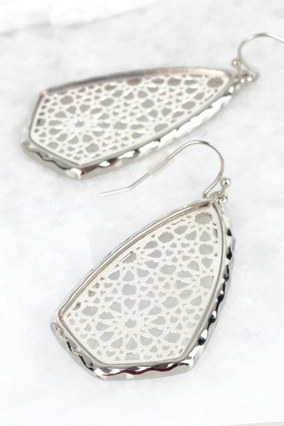 Silver Filigree Hook Earrings