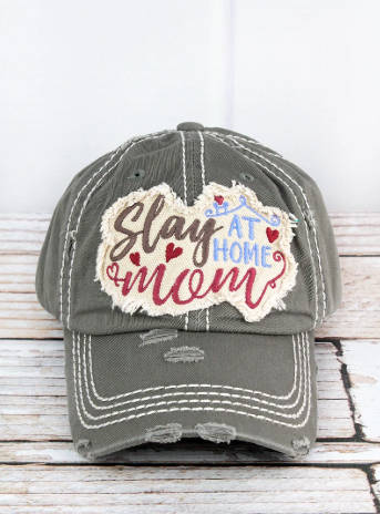 Slay at Home Mom Gray Cap