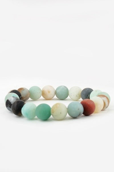 Amazonite Semi Precious Stretch Bracelet
