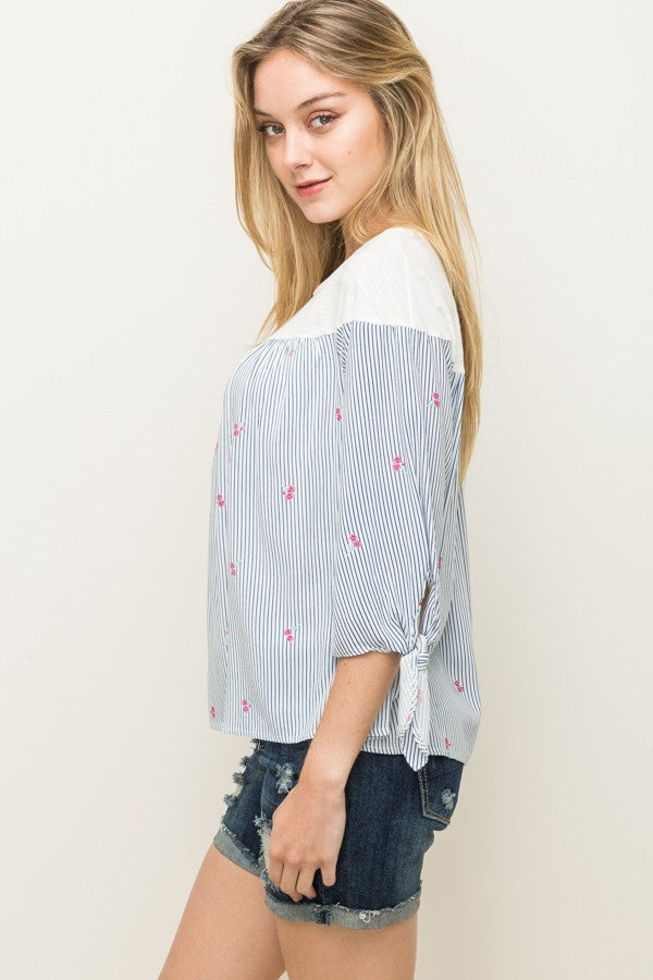 Classic Navy Striped Easy Breezy Top