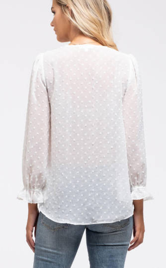 Ivory Swiss Polka Dot Blouse