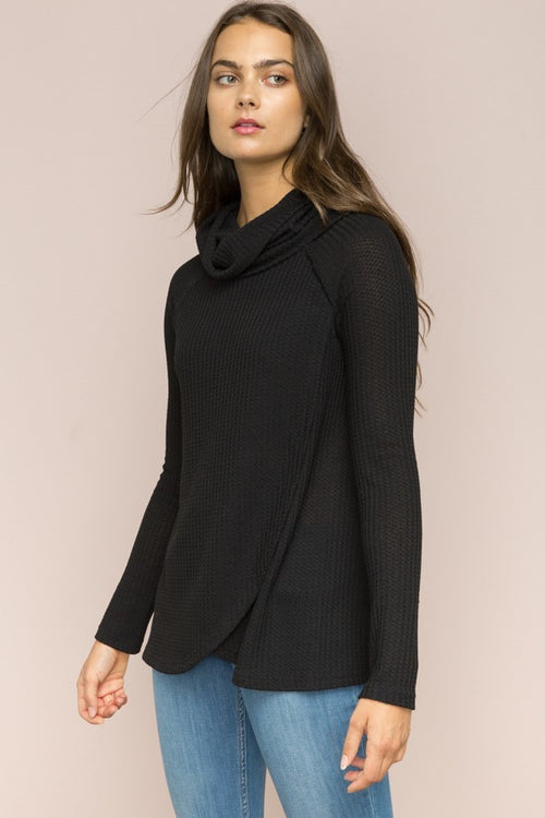 Black Thermal Cowl Neck