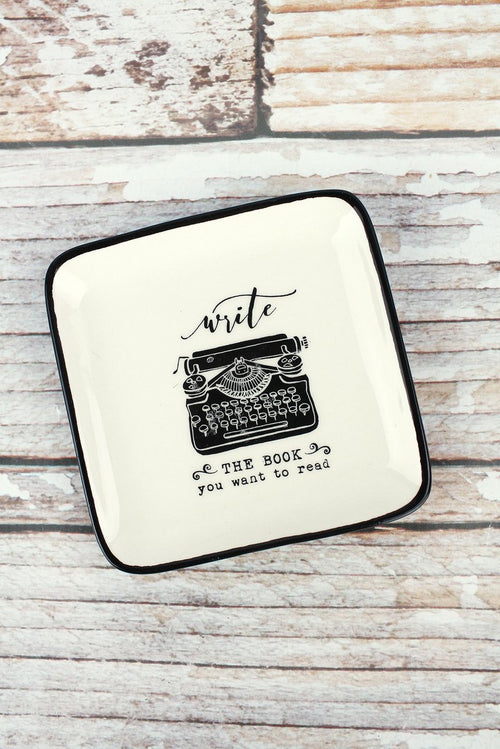 "Ceramic ""Write"" Typewriter Dish"